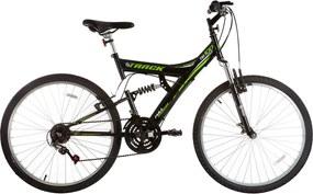 Bicicleta Aro 26 Mtb Tb-100 Full Suspensão 18 V Preto E Verde Track Bikes