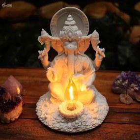 Luminária Ganesh em Marmorite Branco