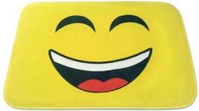 Tapete Infantil Emoji Sorriso 58x40cm Amarelo