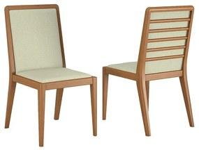 Conjunto 02 Cadeiras de Jantar Chermont Champagne - Wood Prime VM 20411