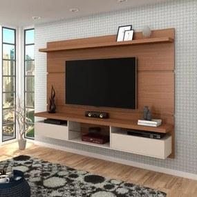 Painel Bancada Suspensa para TV até 60 Pol. 2.2 Lívia Nature/Off White - Mpozenato