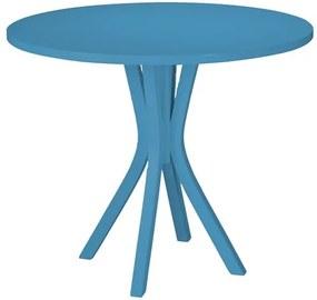 Mesa de Jantar Klaus em Madeira Maciça - Azul