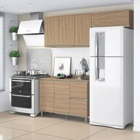 Cozinha Modulada Composição 8 Smart Nogueira - Belaflex