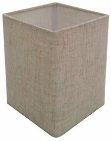 Cúpula em Tecido Quadrada Abajur Luminária Cp-4007 25/16x16cm Rustico Bege