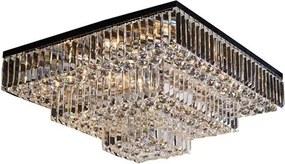 Plafon Arson 67cm de Metal e Cristal Moderno