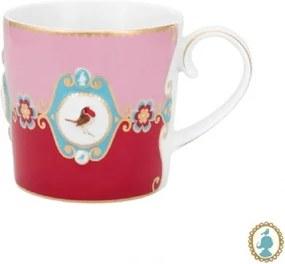 Caneca Pequena Medallion Rosa e Vermelho Love Birds Pip Studio