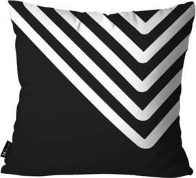 Capa para Almofada Abstrato Preto -35x35cm