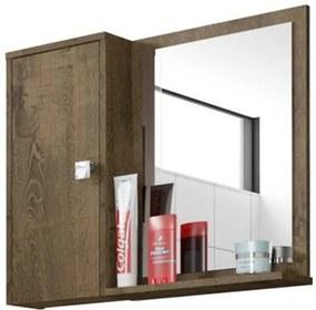 Espelheira E Armário Superior Gênova Madeira Rústica - Bechara Móveis