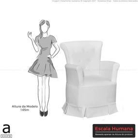 Poltrona de Amamentação Melissa C/ Sistema de Balanço Corino Branco