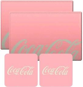 Conjunto 2 Jogos Americanos 2 Porta-Copos Coca-Cola Contemporary Rosa