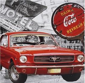 Tela Impressa Mustang Vermelho Coca Cola