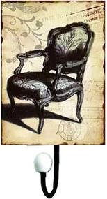 Cabideiro de Metal Cadeira com 1 Gancho