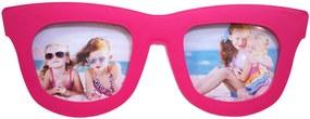 Porta retrato Minas de Presentes Óculos 2 Fotos (Pequeno) Rosa