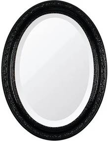 Espelho Oval Bisotê Preto Absoluto Pequeno