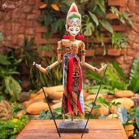 Marionete Legong Bali em Madeira
