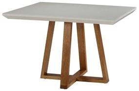 Mesa de Jantar Hannah Com Vidro - Wood Prime MF 34009 1.00 x 1.00