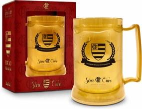 Caneca gel 300ml - flamengo serie ouro