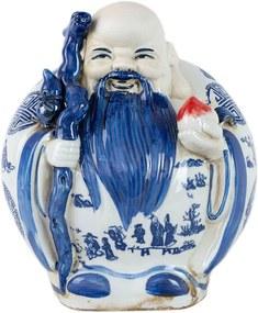 Estatueta Deus Longevidade em Porcelana Idoso