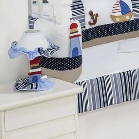 Abajur Urso Marinheiro Branco e Azul