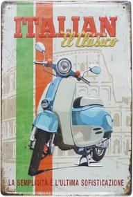 Placa Kasa Ideia de metal Italian 41x31cm