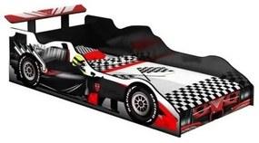 Cama Carro Fórmula 1 Solteiro Preto Com Vermelho- J&A Móveis