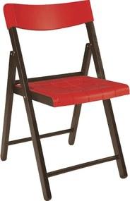 Cadeira Potenza de Madeira Tauarí Tabaco/Vermelho - Tramontina