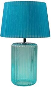 Luminária de Mesa Big Bottle Base Azul em Vidro e Metal - Urban