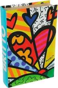 Book Box New Day - Romero Britto - em MDF - 33x22 cm