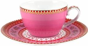 Xícara de Cafezinho Rosa - Floral - Pip Studio