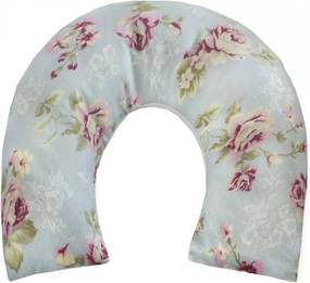 Almofada de Pescoço para Bebê Realeza Floral Rosa