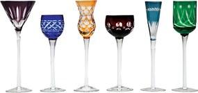 Conjunto 6 Taças de Cristal  Lapidadas P/ Licor 150ml