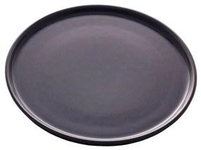 Jogo Pratos Sobremesa Cerâmica Vadim Azul Escuro 6 Peças 21cm 17681 Wolff