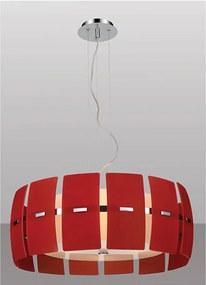 pendente VITRIO vermelho 4Xbulbo Stella SD8270