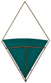 Vaso de Parede Pirâmide Verde - NT 44945
