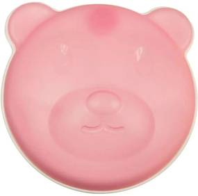Prato Térmico Urso Com Ventosa E Tampa Rosa Girotondo Baby Rosa