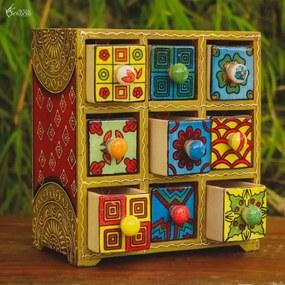 Caixa Decorativa c/ Gavetas de Cerâmica