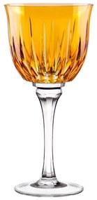 Taça de Cristal Lapidado p/ Vinho Branco 25 - Amarelo - 66