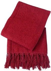 Xale De Sofá De Tear Em Chenile 1,80 X 1,20 Vermelho