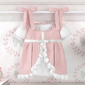 Porta Fraldas Varão Vestido Princesa Clássica Grão de Gente  Rosa