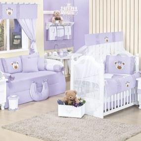 Quarto Para Bebê Padroeira Baby Ursa Sofia Lilás