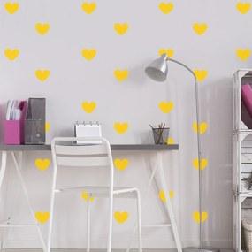 Adesivo de Parede Quartinhos Infantil Coração Amarelo