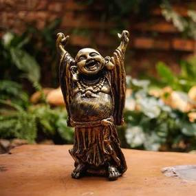 Escultura Buda Gordo em Resina 30cm
