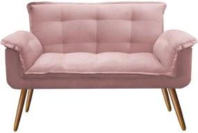 Namoradeira Decorativa Opala Deluxe Suede Rosa