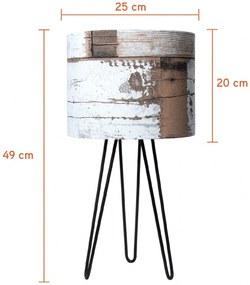 Abajur Timber Marrom Carambola