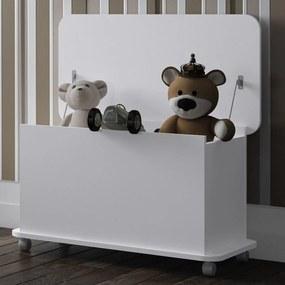 Baú de Brinquedos Com Rodízios Bb 710 Branco - Completa Móveis