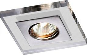 Embutido Quadrado Una Square Cristal com Escovado para Dicroica - Bella Itália - EM701C/E