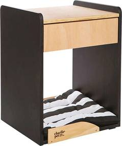 Mesa de Cabeceira You And Me Madeira Natural E Preto Charlie Pet