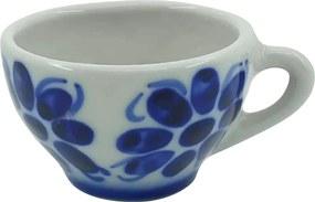 Xícara de Chá em Porcelana Azul Colonial 120 ml