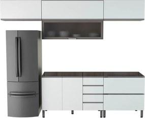 Conjunto Cozinha Completa Cleto 2,80m S/ Tampo C/ 6 Portas Malbec /