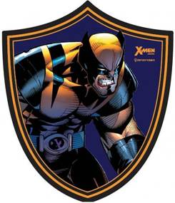 Placa Decorativa Wolverine Escudo Geek10 Azul